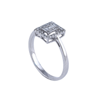 C'est Moi Gold and Square-Cut Diamond Ring
