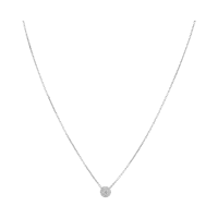 C'est Moi Gold and Round-Cut Diamond Necklace