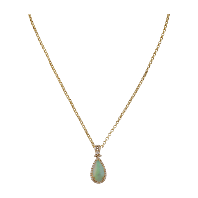 Earth Madness Gold and Opal Pendant