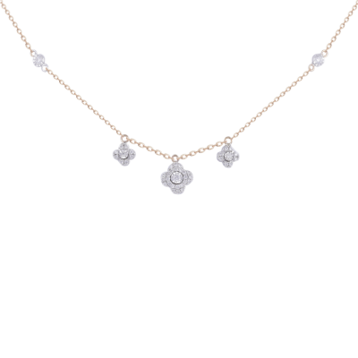 Queen Rose Gold & Diamond  Necklace