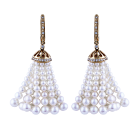 Earth Madness Gold and Pearl Earrings