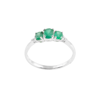Alluring Charms Emerald Ring