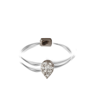 Touch Me Double Circle Pear-Shaped Diamond Ring