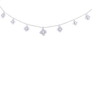 Queen White Gold &Diamond  Necklace