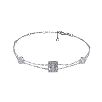 C'est Moi Gold and Rectangular-Cut Diamond Bracelet