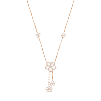 Damascene Jasmine- rose gold collier- Mother of pearl & Diamond