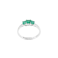 Shades of Green Emerald Ring