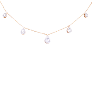 Queen Yellow Gold & Diamond Necklace